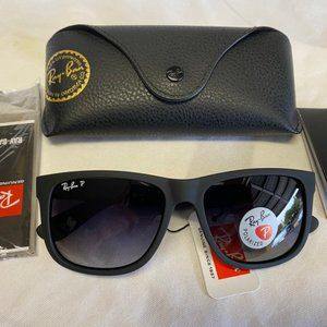 New Ray-Ban RB4165 622/T3 Black/Grey Gradient 55mm